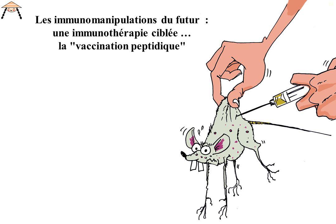 Les immunomanipulations du futur : une immunothérapie ciblée … la vaccination peptidique