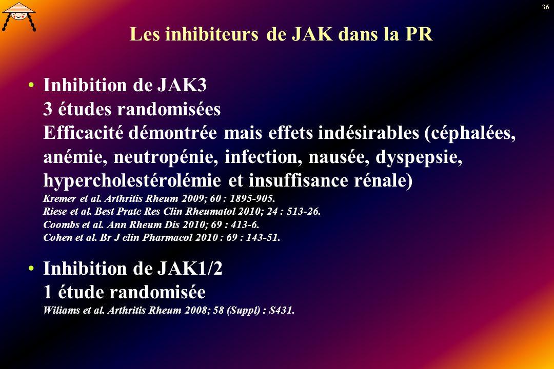 Les inhibiteurs de JAK dans la PR