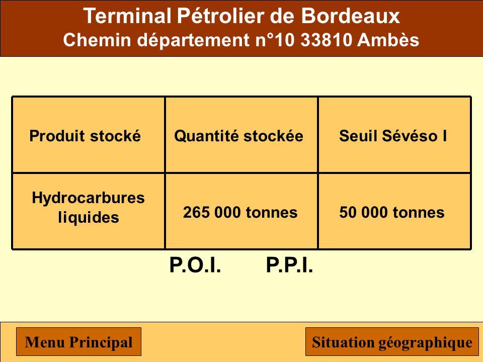 Terminal Pétrolier de Bordeaux P.O.I. P.P.I.