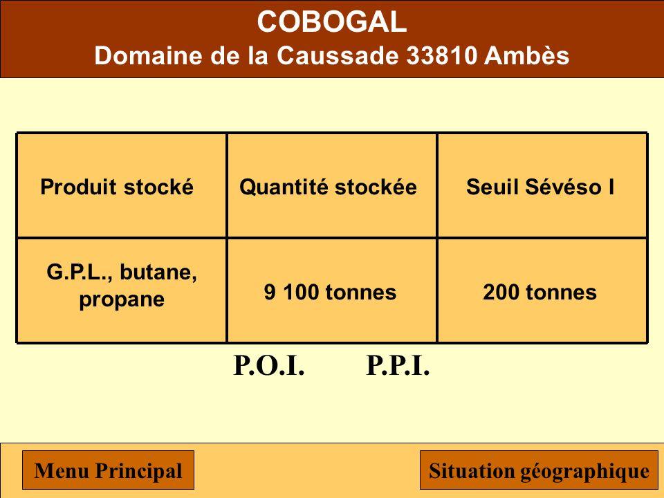 Domaine de la Caussade 33810 Ambès Situation géographique