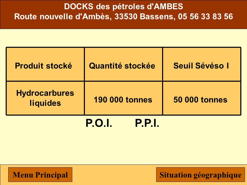 P.O.I. P.P.I. DOCKS des pétroles d AMBES
