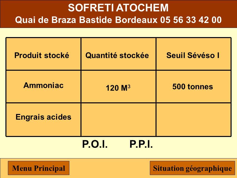 Quai de Braza Bastide Bordeaux 05 56 33 42 00 Situation géographique