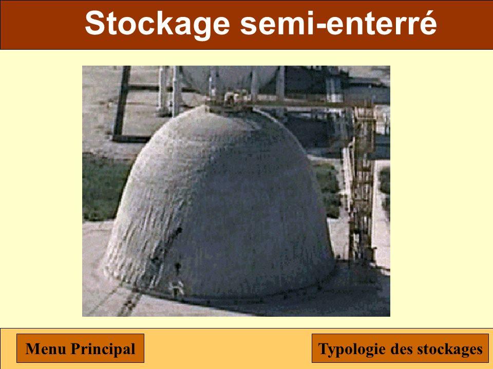 Stockage semi-enterré Typologie des stockages