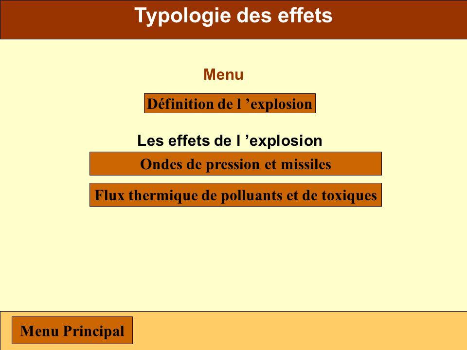 Typologie des effets Menu Définition de l 'explosion