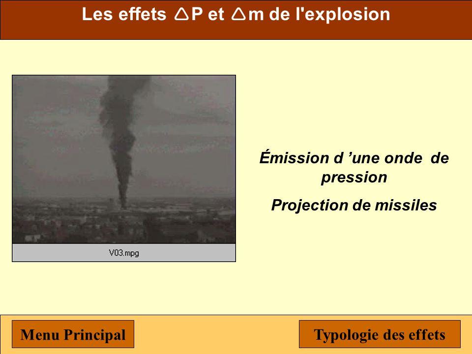 Les effets P et m de l explosion