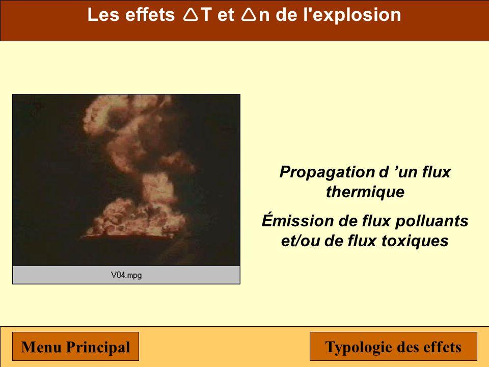 Les effets T et n de l explosion