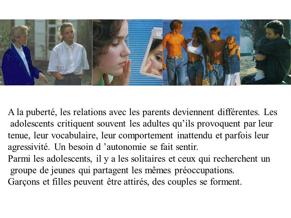 A la puberté, les relations avec les parents deviennent différentes