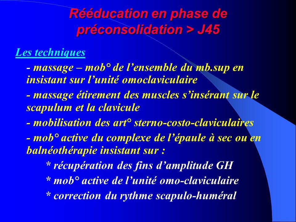 Rééducation en phase de préconsolidation > J45
