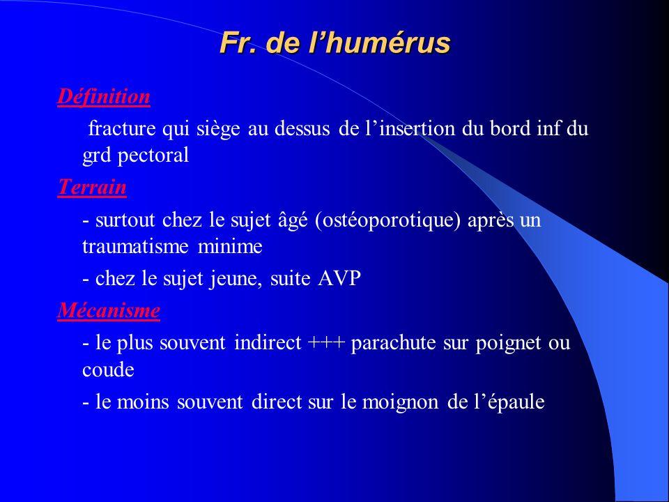 Fr. de l'humérus Définition