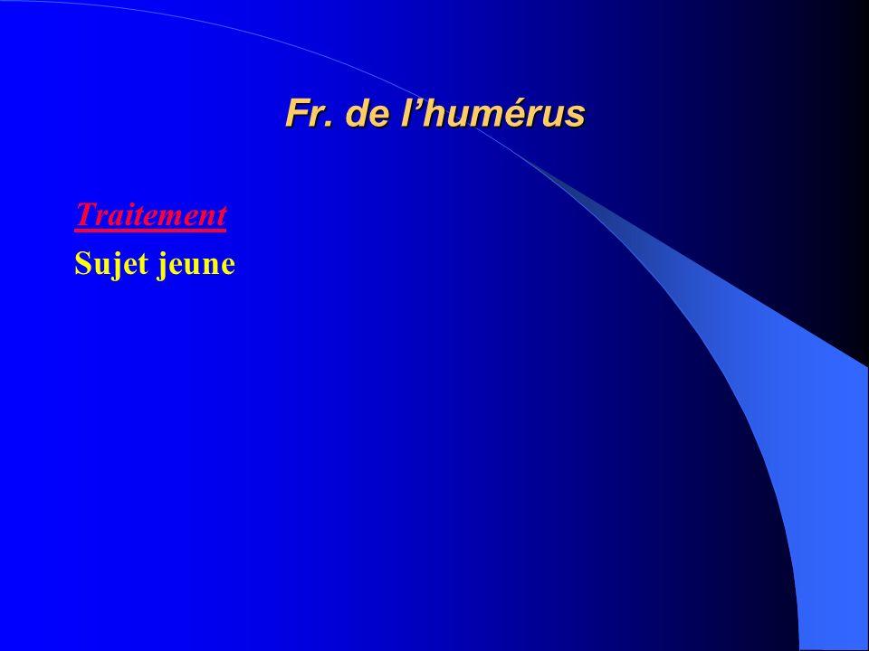 Fr. de l'humérus Traitement Sujet jeune