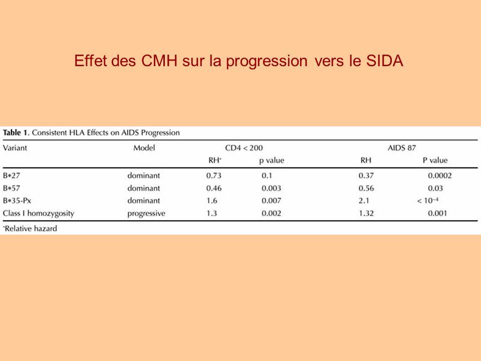 Effet des CMH sur la progression vers le SIDA