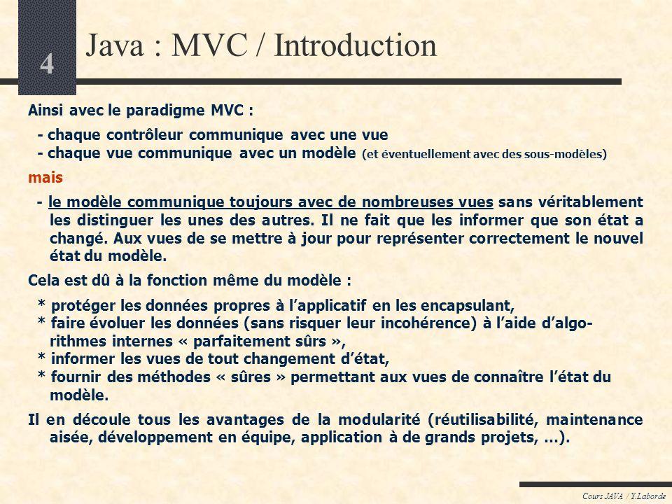 Java : MVC / Introduction