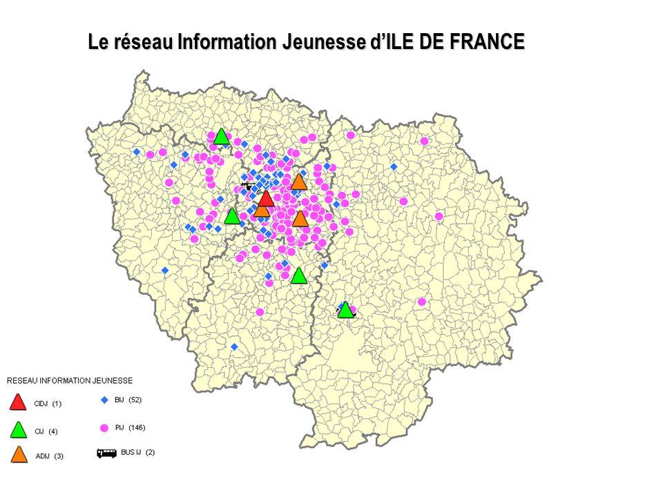 Le réseau Information Jeunesse d'ILE DE FRANCE