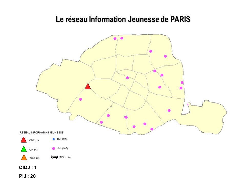 Le réseau Information Jeunesse de PARIS
