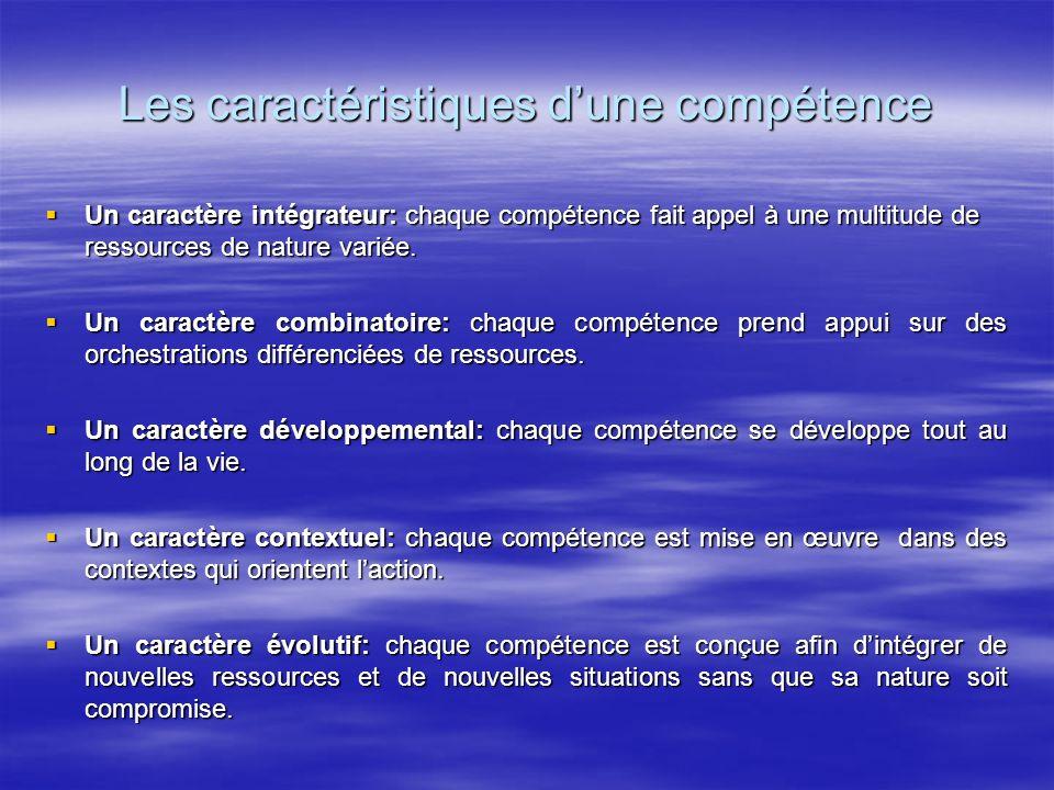 Les caractéristiques d'une compétence