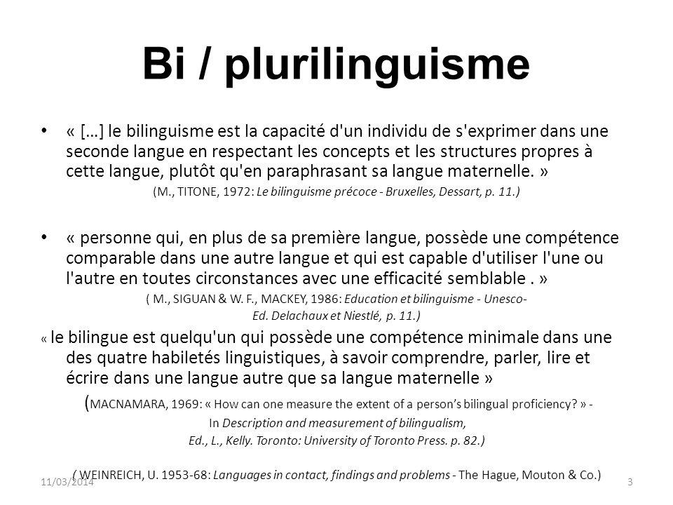 Bi / plurilinguisme