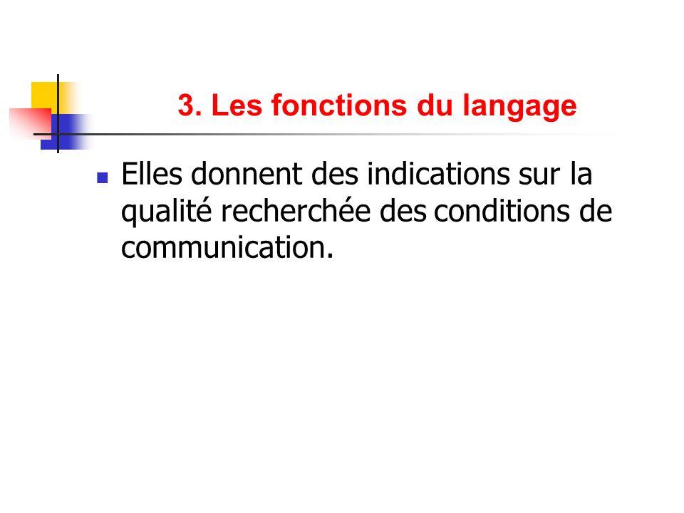 3. Les fonctions du langage