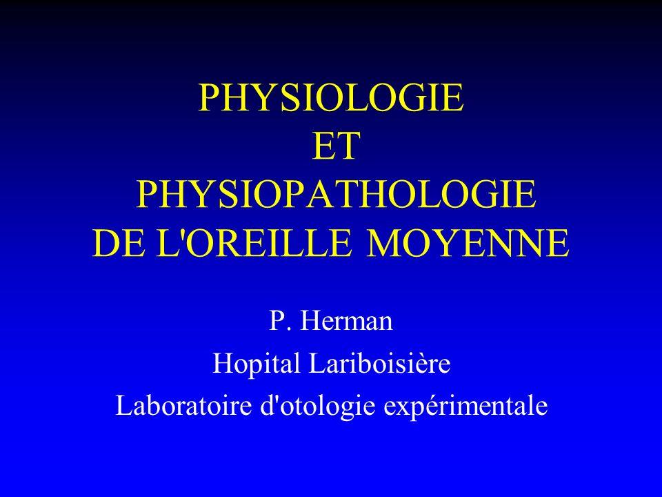 PHYSIOLOGIE ET PHYSIOPATHOLOGIE DE L OREILLE MOYENNE