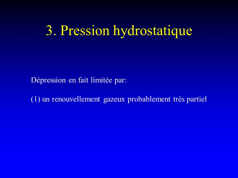 3. Pression hydrostatique