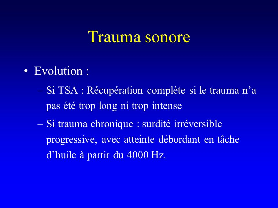 Trauma sonore Evolution :