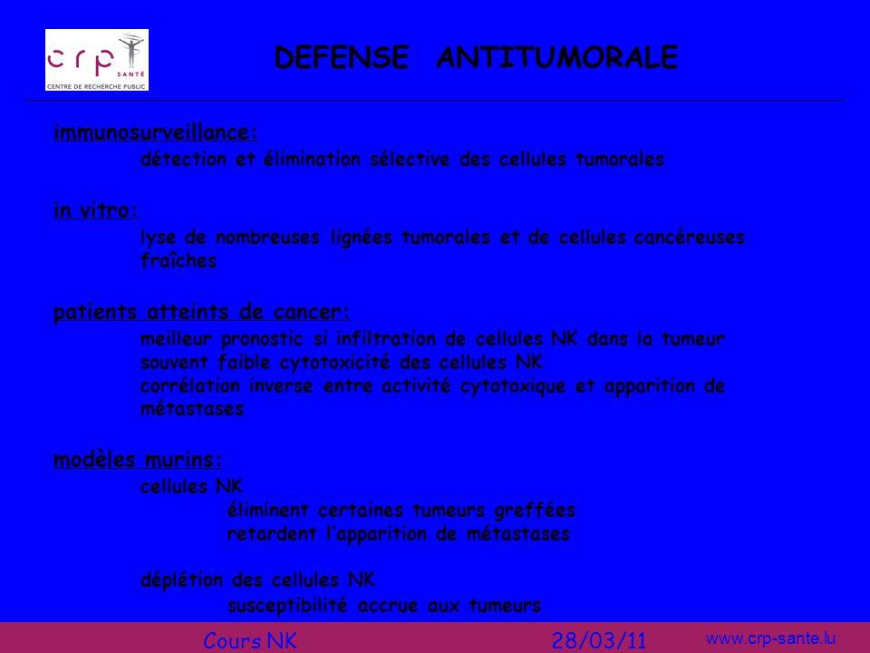 DEFENSE ANTITUMORALE immunosurveillance: