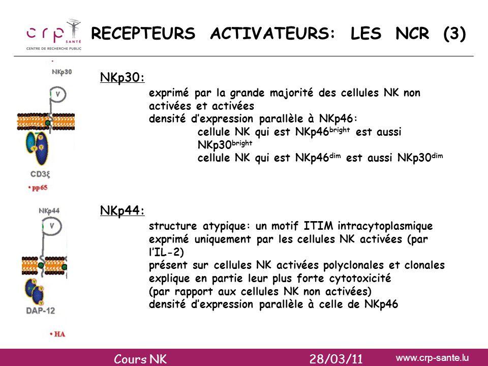 RECEPTEURS ACTIVATEURS: LES NCR (3)