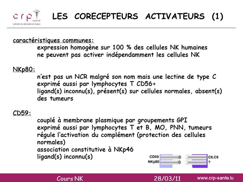 LES CORECEPTEURS ACTIVATEURS (1)