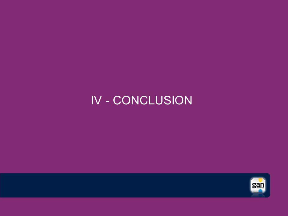 IV - CONCLUSION