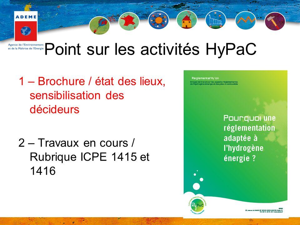 Point sur les activités HyPaC
