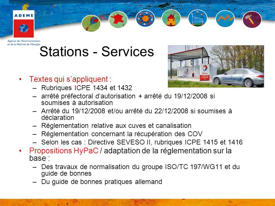 Stations - Services Textes qui s'appliquent :