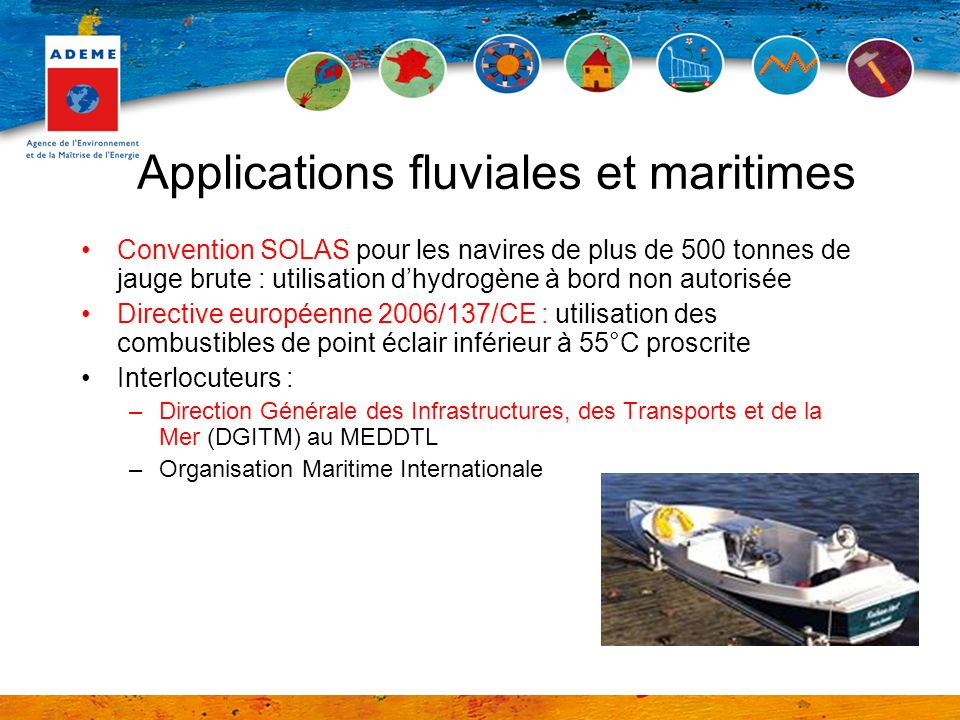 Applications fluviales et maritimes