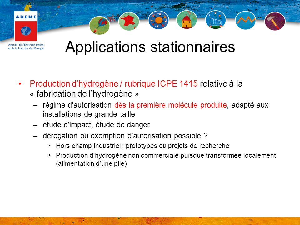 Applications stationnaires