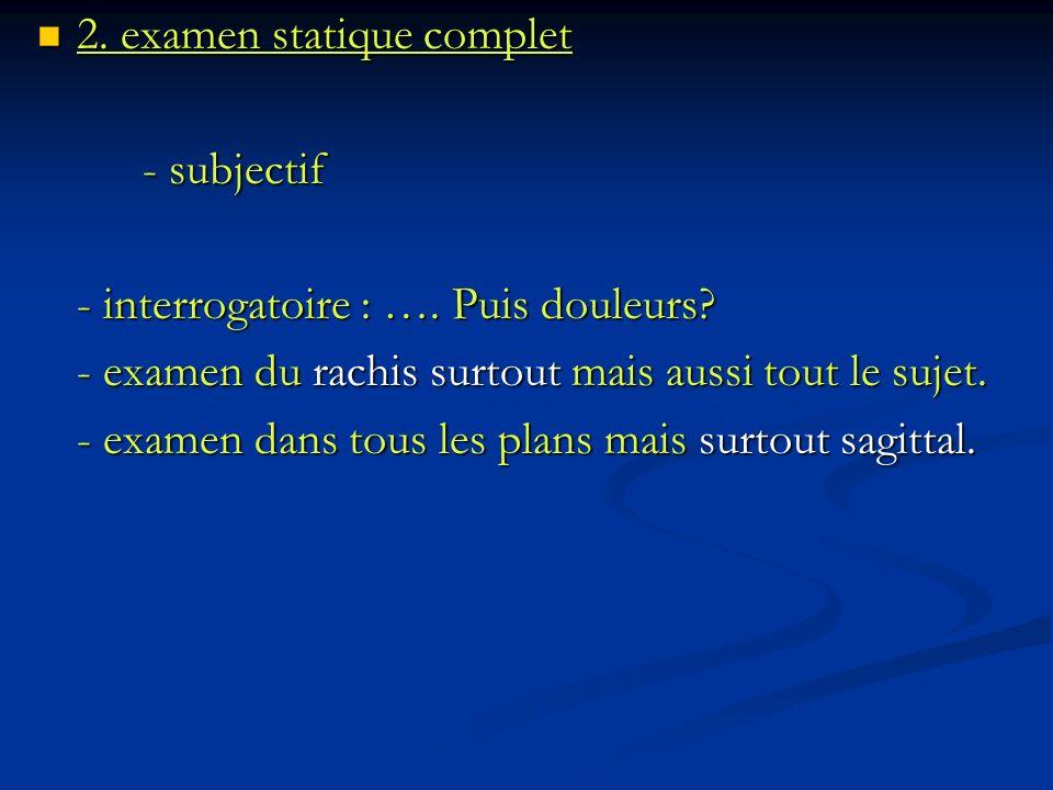 2. examen statique complet