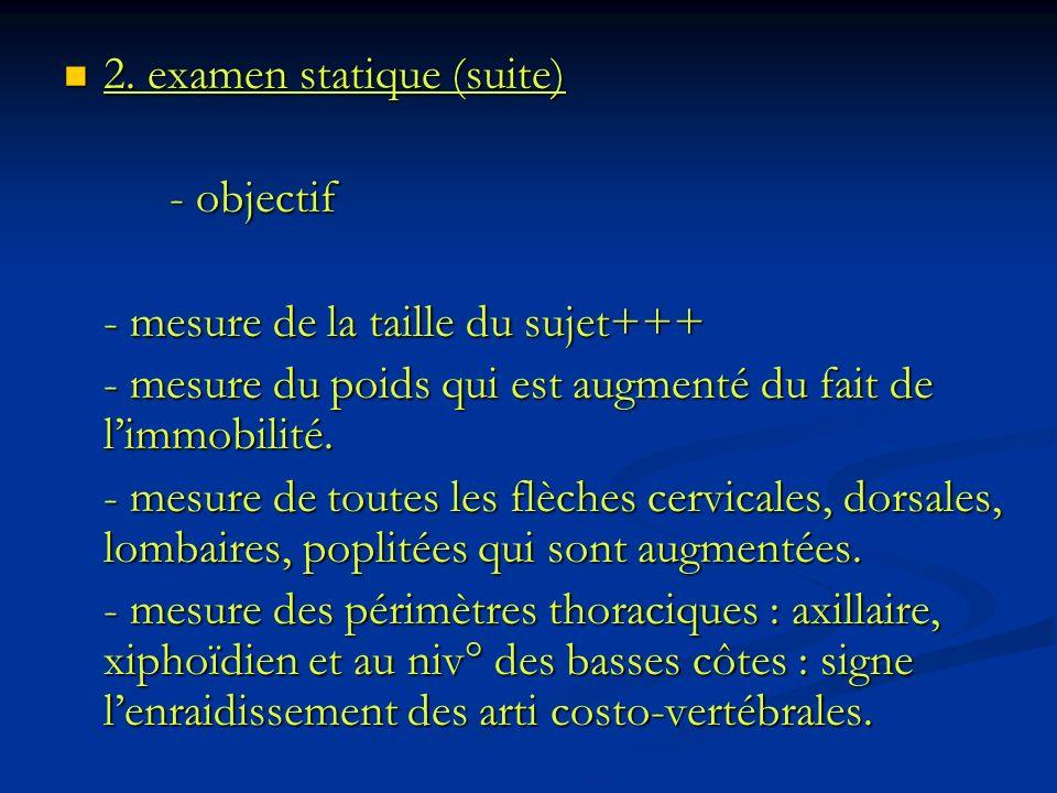 2. examen statique (suite)