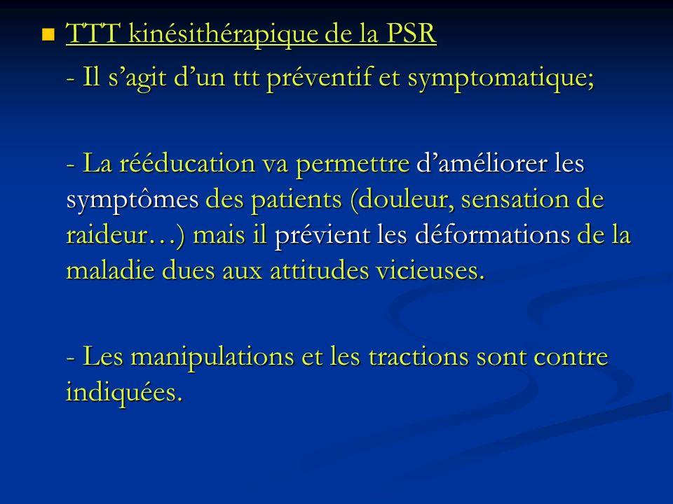 TTT kinésithérapique de la PSR