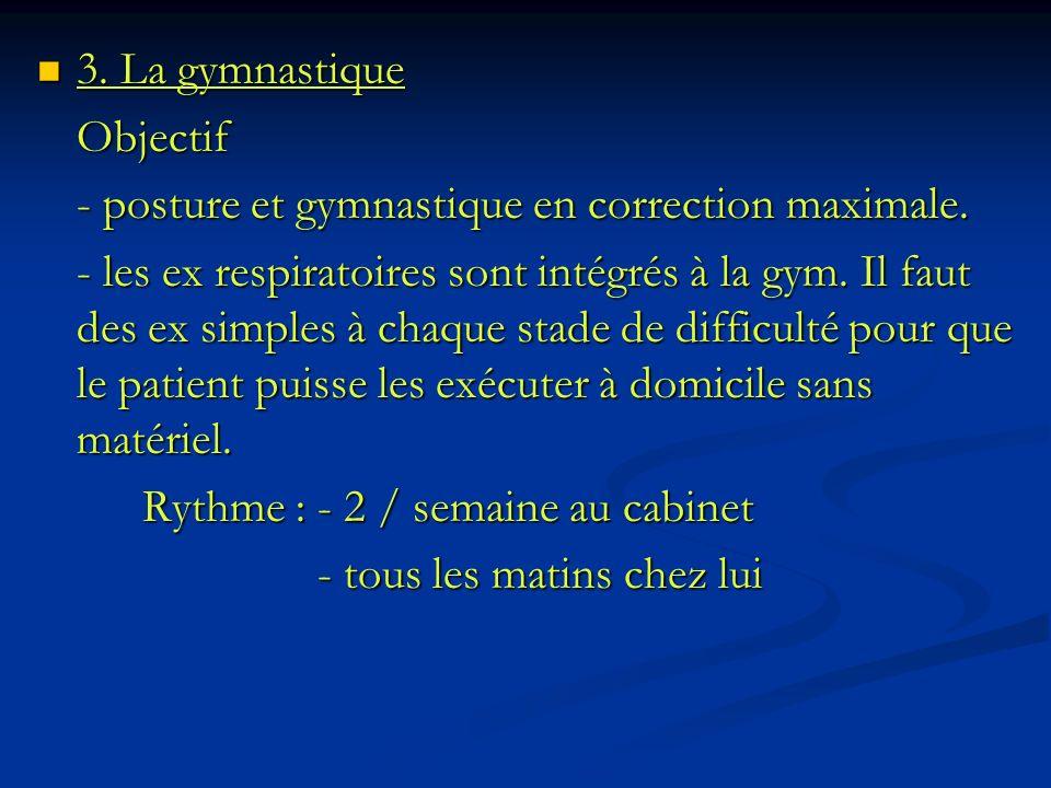 3. La gymnastique Objectif. - posture et gymnastique en correction maximale.