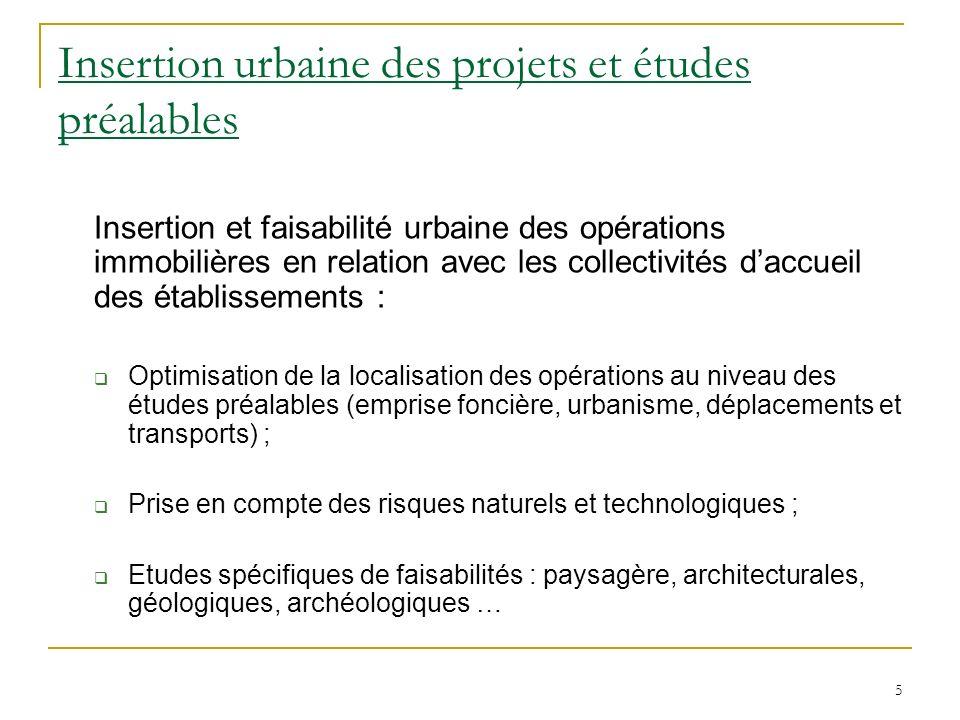 Insertion urbaine des projets et études préalables