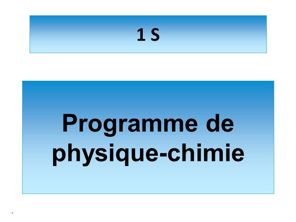 Programme de physique-chimie