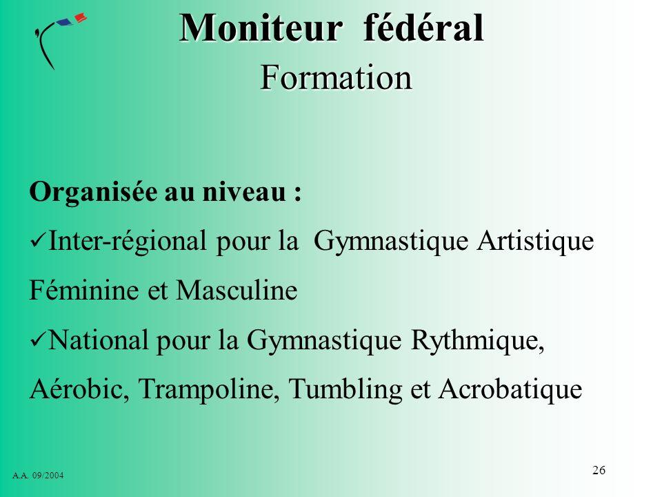 Moniteur fédéral Formation