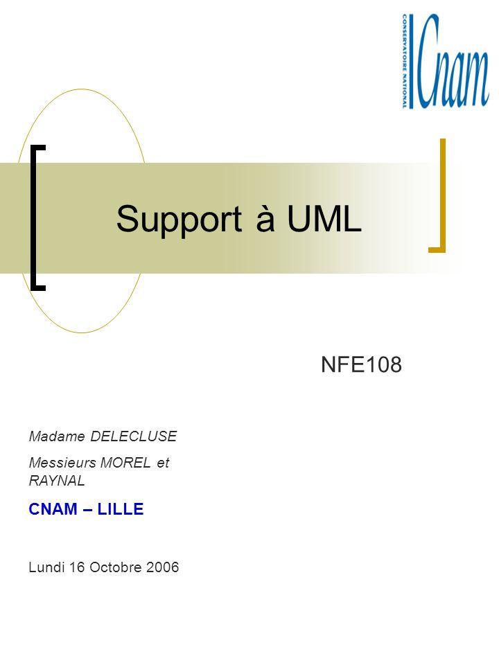 Support à UML NFE108 CNAM – LILLE Madame DELECLUSE