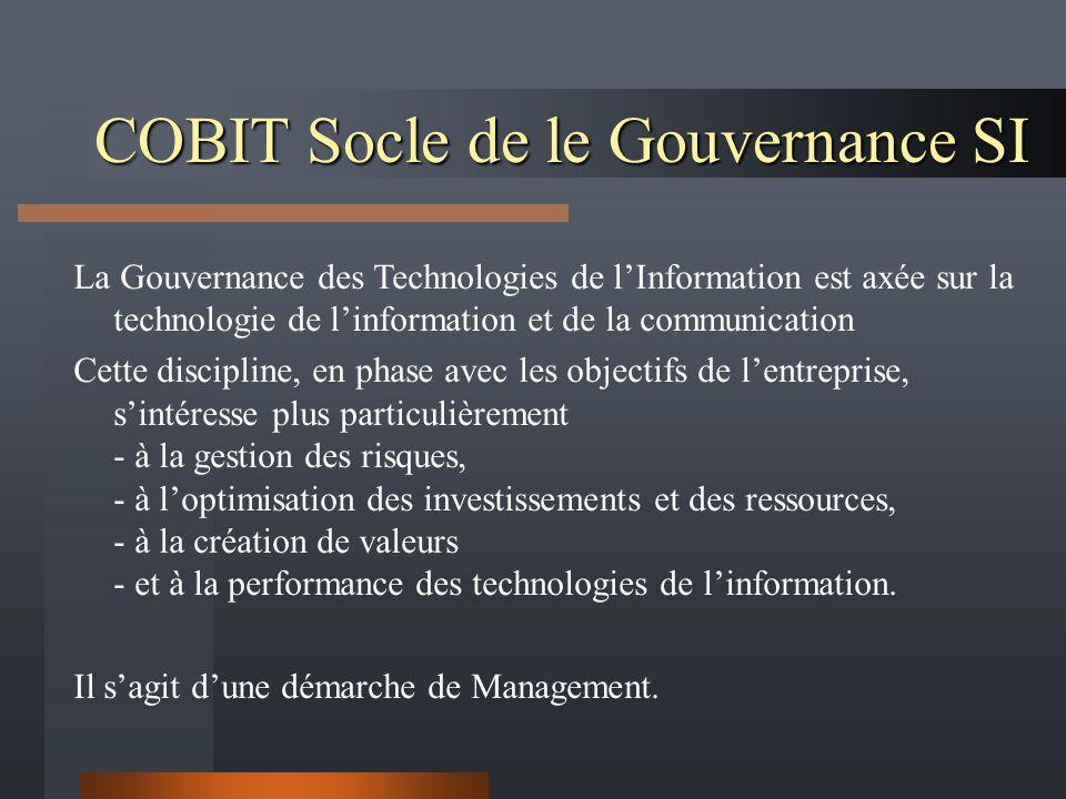 COBIT Socle de le Gouvernance SI