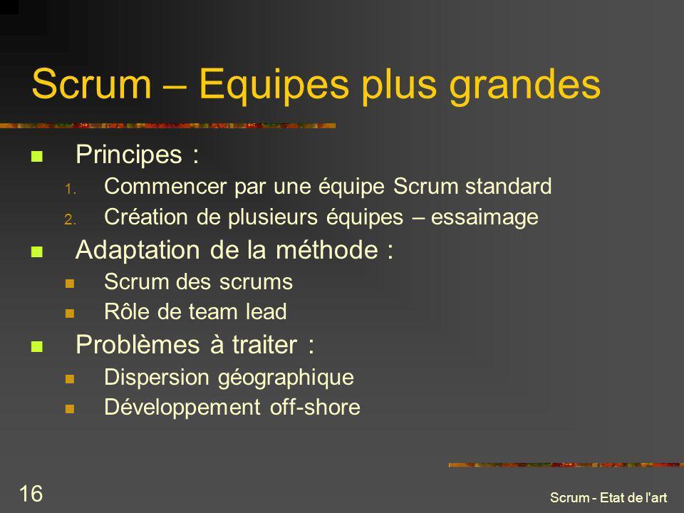 Scrum – Equipes plus grandes