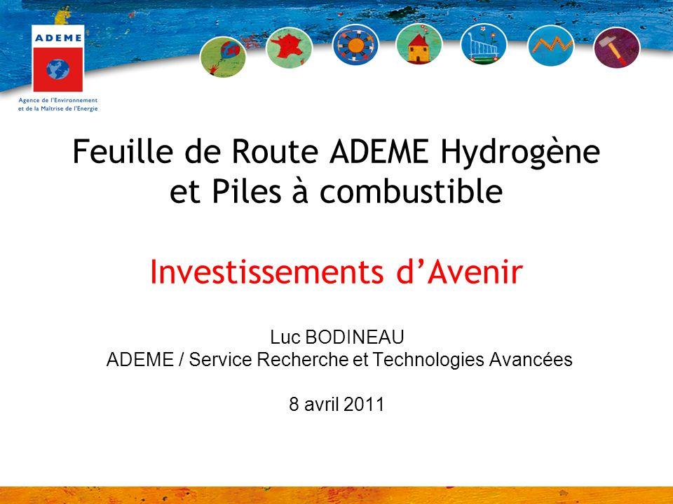 ADEME / Service Recherche et Technologies Avancées
