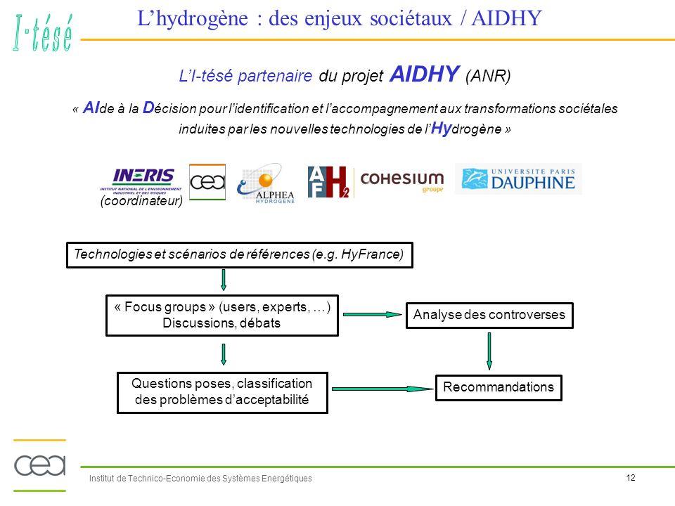 L'hydrogène : des enjeux sociétaux / AIDHY