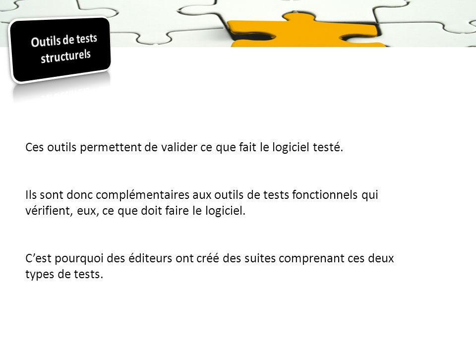 Outils de tests structurels