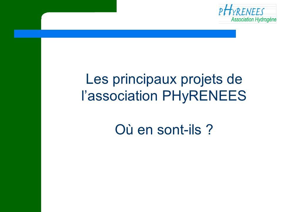 Les principaux projets de l'association PHyRENEES
