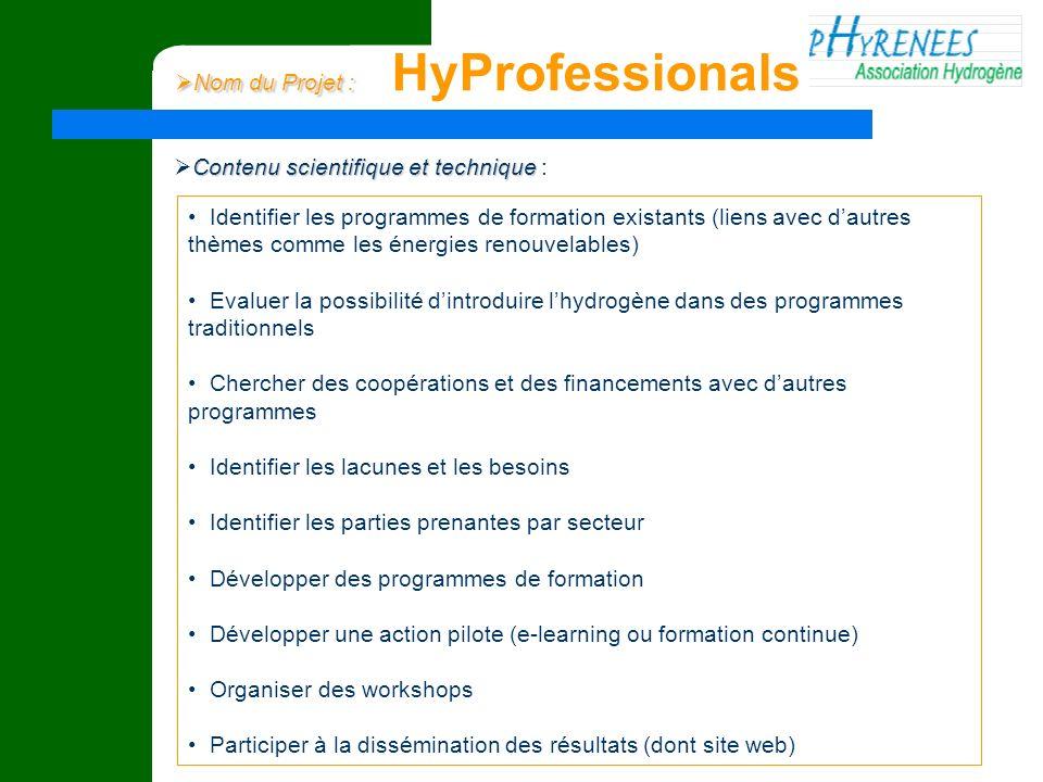 Nom du Projet : HyProfessionals