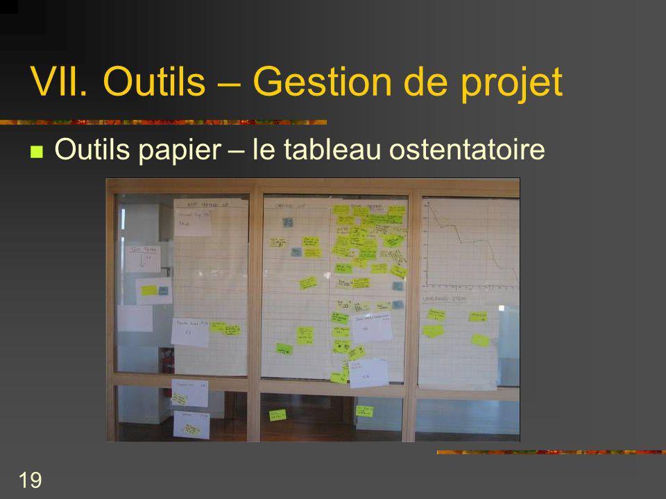 VII. Outils – Gestion de projet