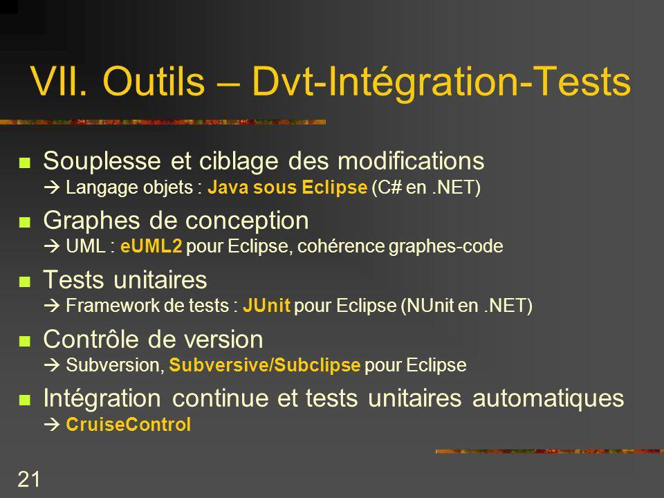 VII. Outils – Dvt-Intégration-Tests