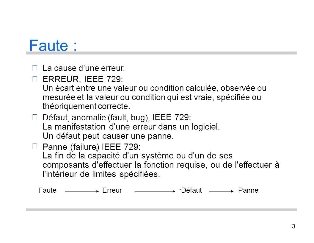 Faute : ERREUR, IEEE 729: IEEE 729: